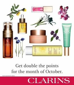 clarins for me october